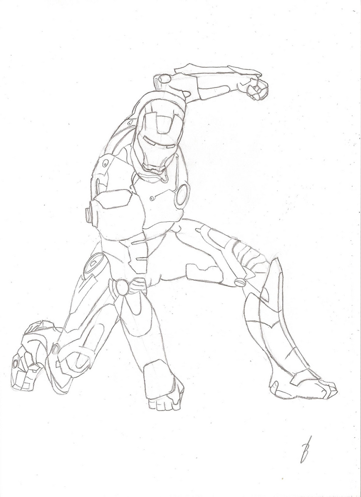 745x1024 Iron Man How To Colour This Red And Yellow, Or Just