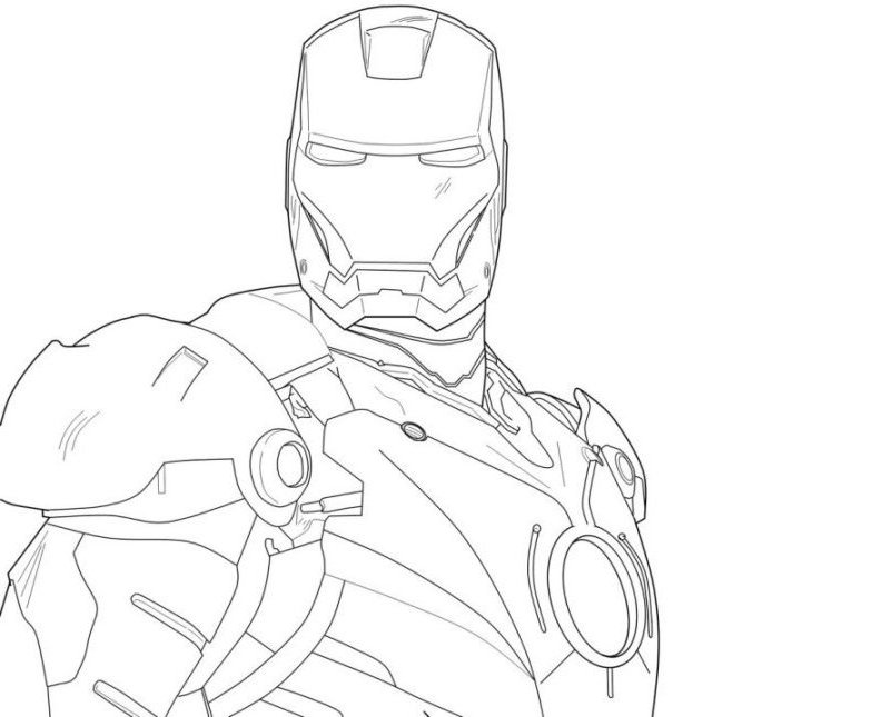 iron man easy drawing at getdrawings  free download
