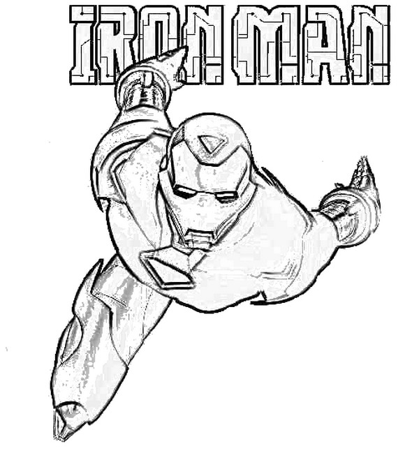 600x649 Coloring Page Iron Man 5