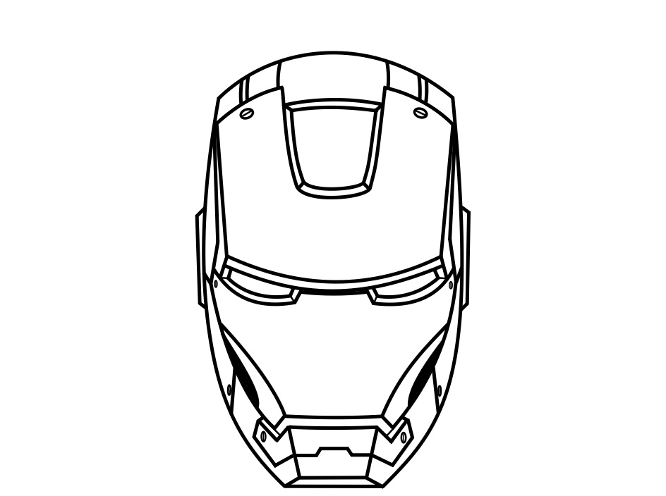 Iron man face drawing at free for for Iron man face coloring pages