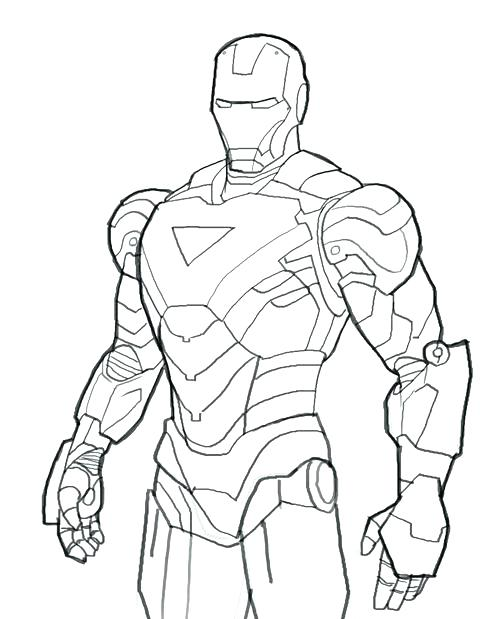 Iron Man Face Drawing