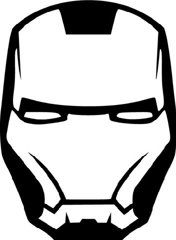 353x480 Iron Man Mask Die Cut Vinyl Sticker Decal Sticky Addiction