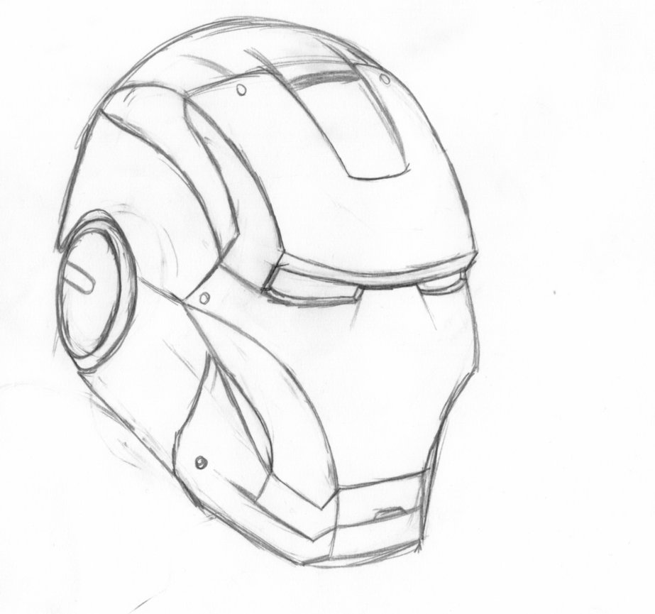 Iron Man Face Drawing At Getdrawings Free For Personal Use