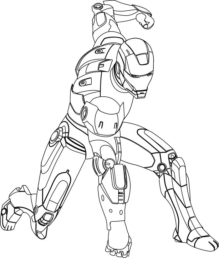 700x822 Drawn Suit Iron Man