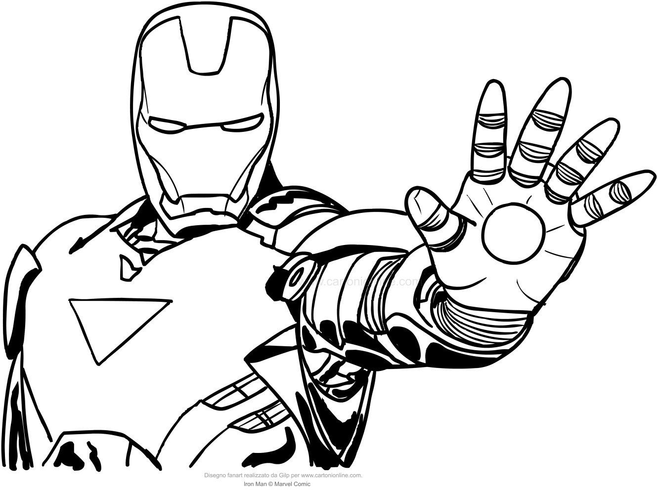 Iron Man Head Drawing at GetDrawings.com   Free for personal use ...
