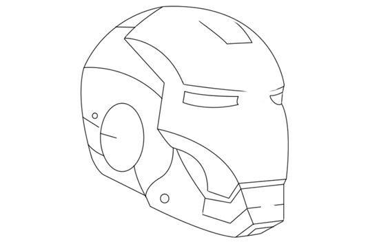 550x358 Iron Man Head Drawing Step By Step Hulk Drawings Step By Step