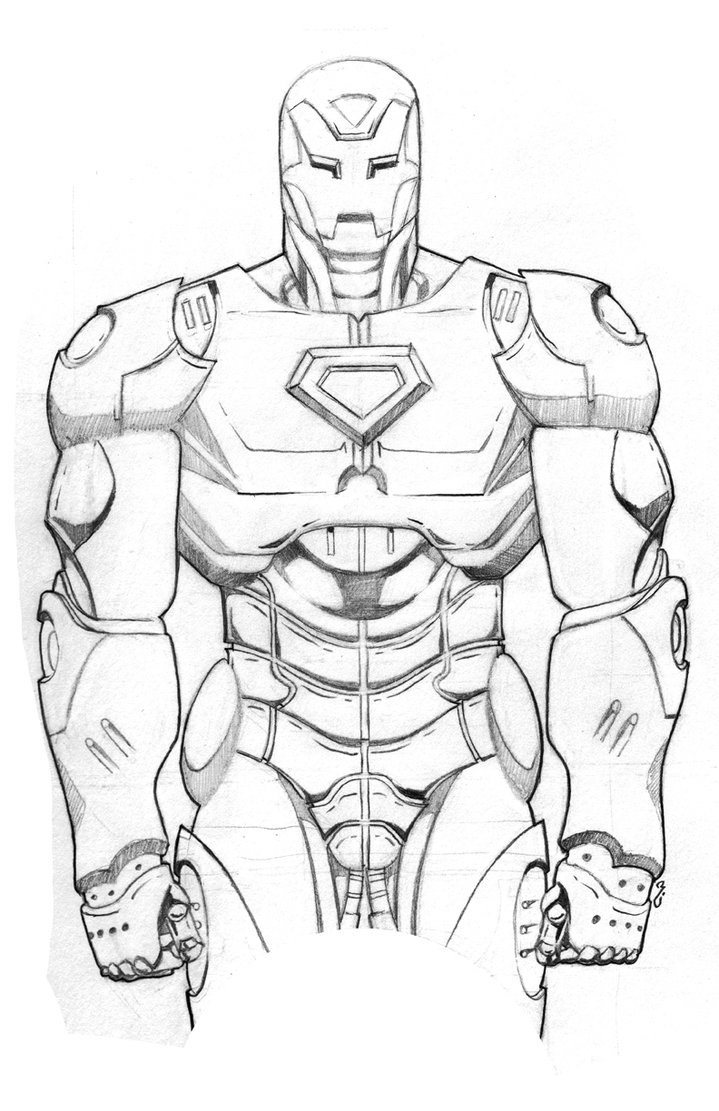 719x1111 Iron Man Helmet Drawing In Pencil