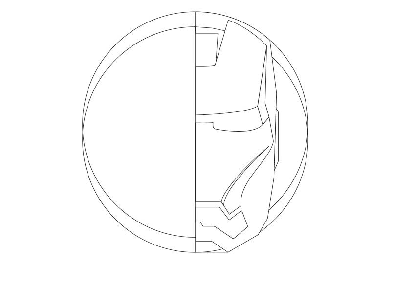 806x591 Iron Man Mask (Side Work) Art Amp Design At Your Fingertips