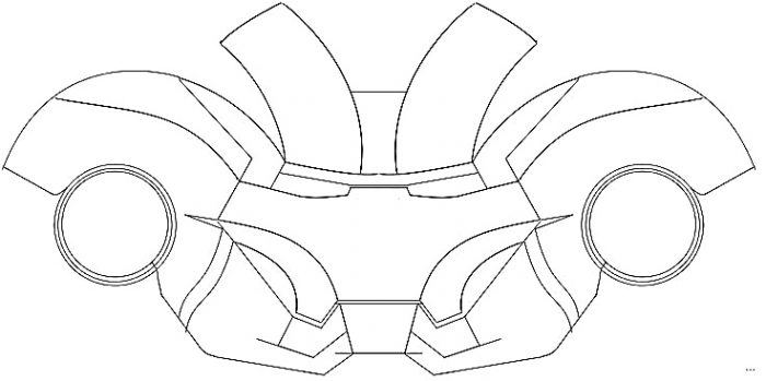 700x349 Iron Man Helmet Template Mark Helmet Simple Snapshoot Studiootb