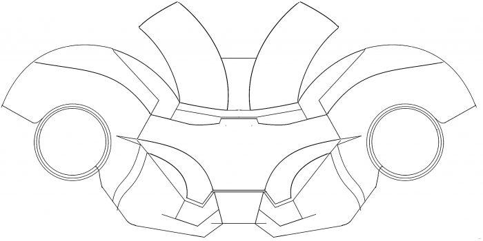 700x350 Iron Man Helmet Template Wonderful Picture Jkfc Ironman Studiootb