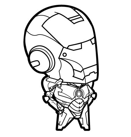 454x475 Itty Bitty Iron Man Line Art Finally Time