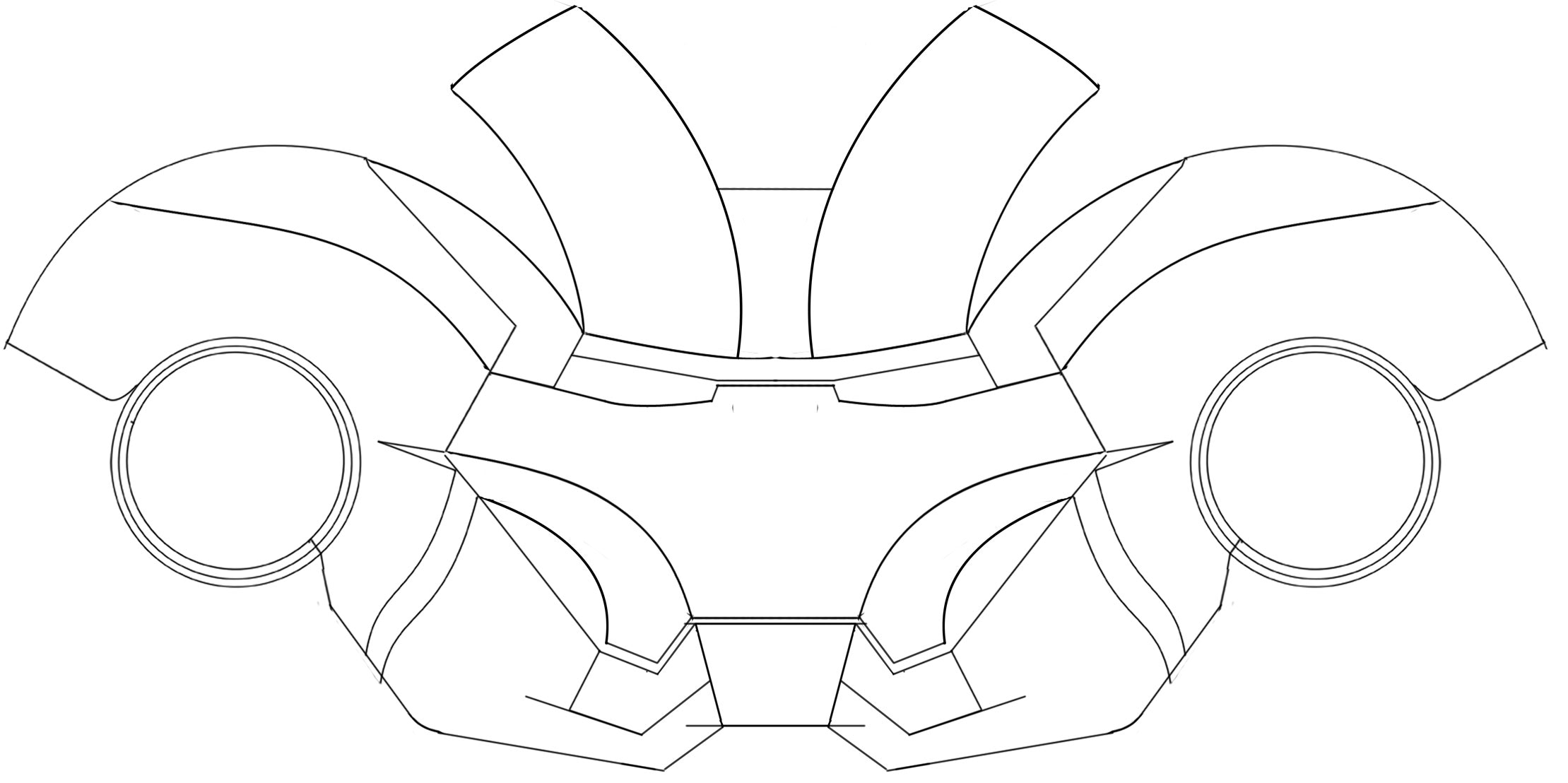 Iron Man Helmet Drawing At Getdrawings Free For Personal Use