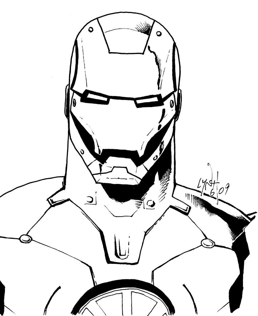 Iron Man Helmet Drawing At GetDrawings