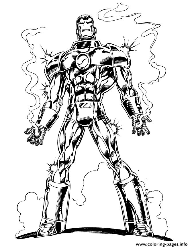 Iron Man Line Drawing