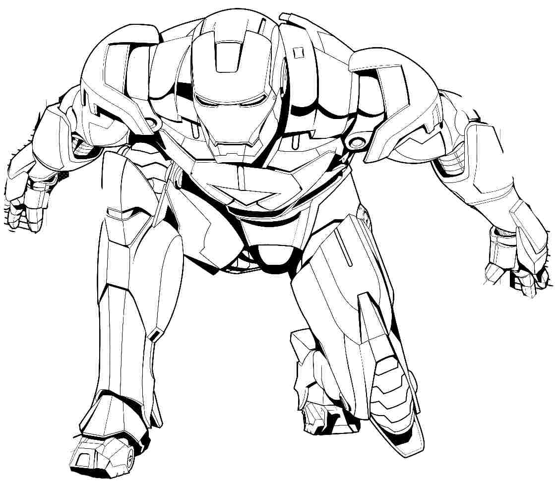 1119x980 Iron Man Coloring Page