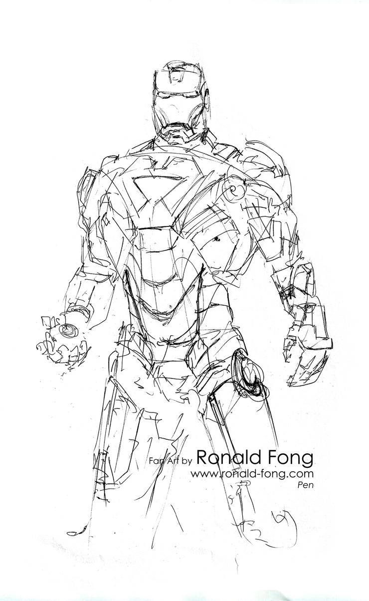 740x1205 Iron Man Mark Vi Fan Art Ronald Fong