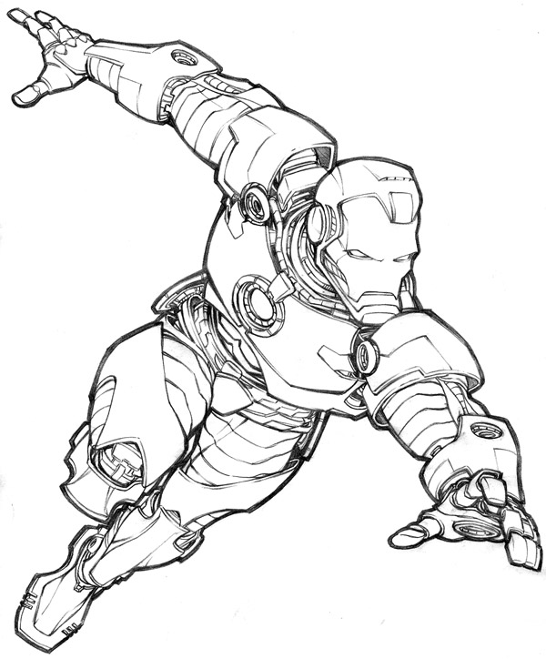 Line Drawing Man : Iron man line drawing at getdrawings free for