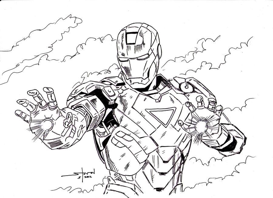 900x654 Iron Man Inked By Stevenwilcox