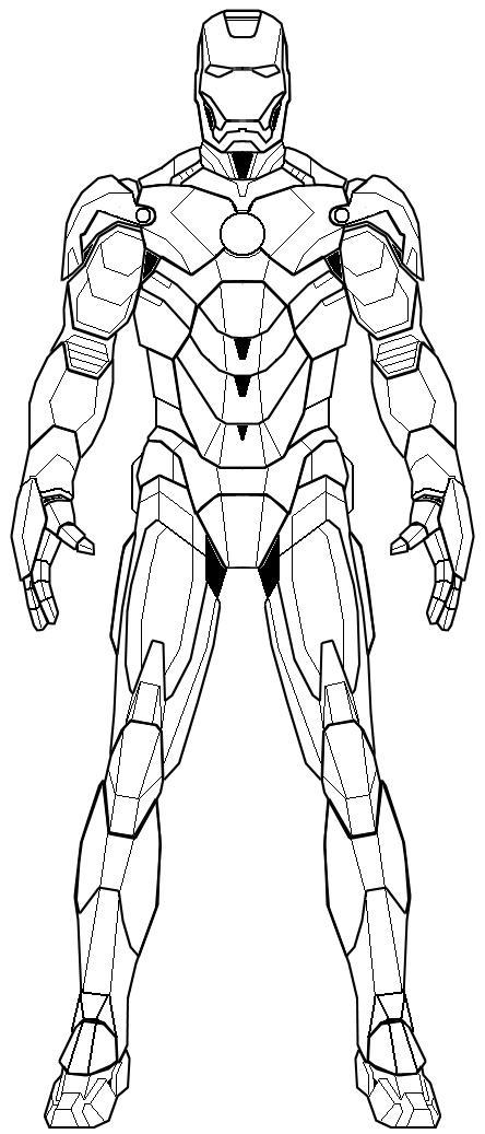 iron man line drawing at getdrawings  free download