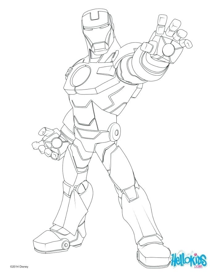 687x888 Iron Man Coloring Pages Lighting Palm Of Iron Man Coloring Page