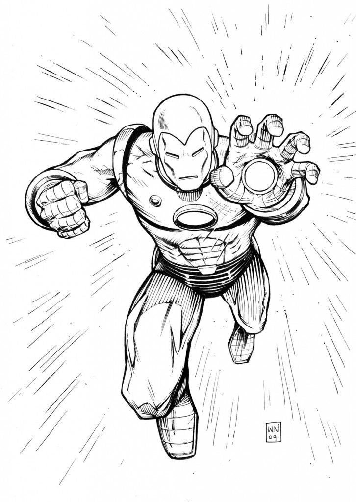 Iron Man Outline Drawing At Getdrawings Com