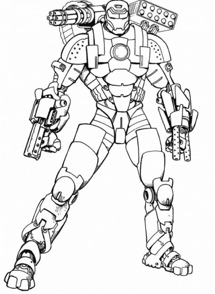 Iron man outline drawing at free for for Free coloring pages iron man