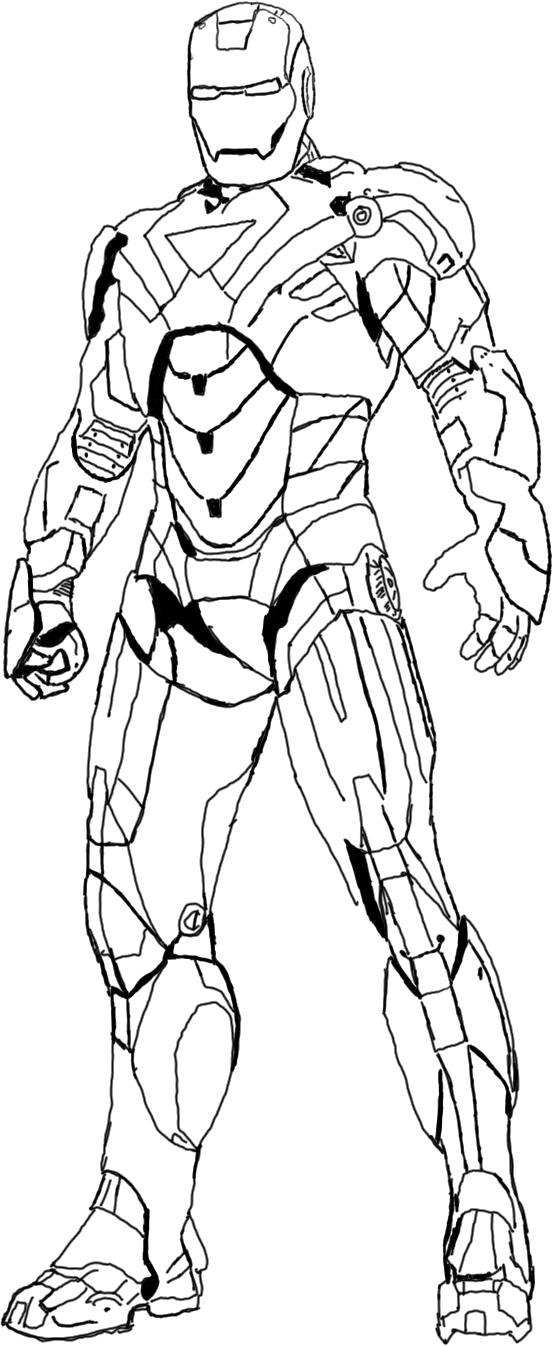 Iron Man Outline Drawing at GetDrawings | Free download