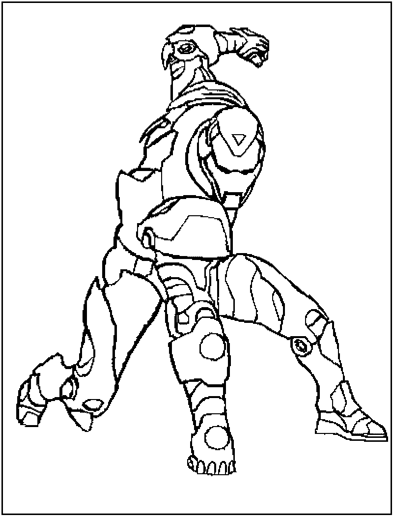 Iron man suit drawing at free for for Disegni da colorare iron man