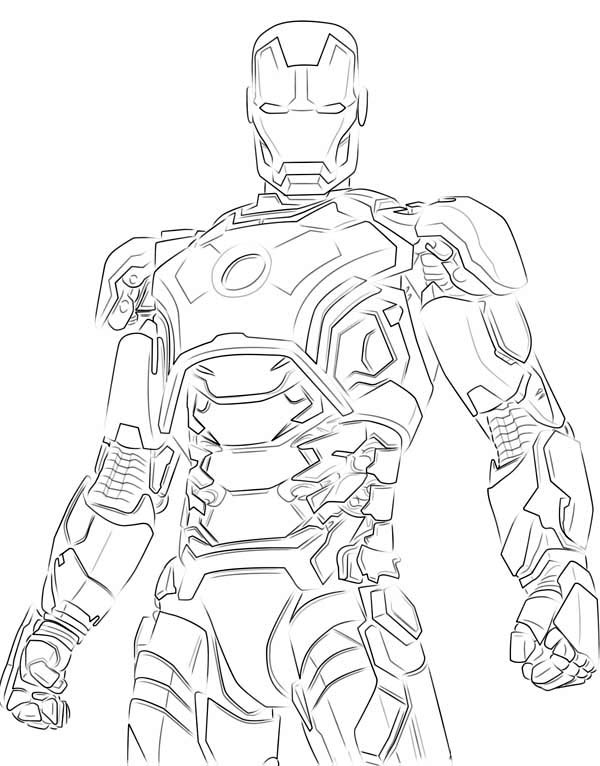 Iron man suit drawing at getdrawings free for personal use 600x766 iron man shinny armour coloring page maxwellsz