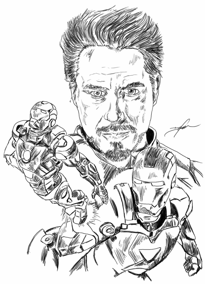850x1178 Iron Man Suit Evolution By Fireclimate
