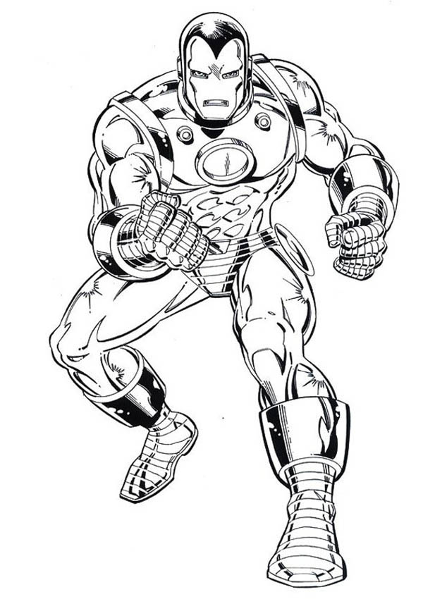 600x850 Iron Man Tank Heavy Combat Suit Coloring Page