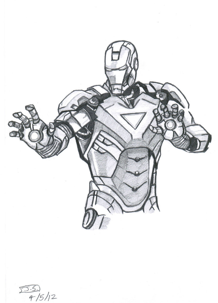 How To Draw Iron Man Suit