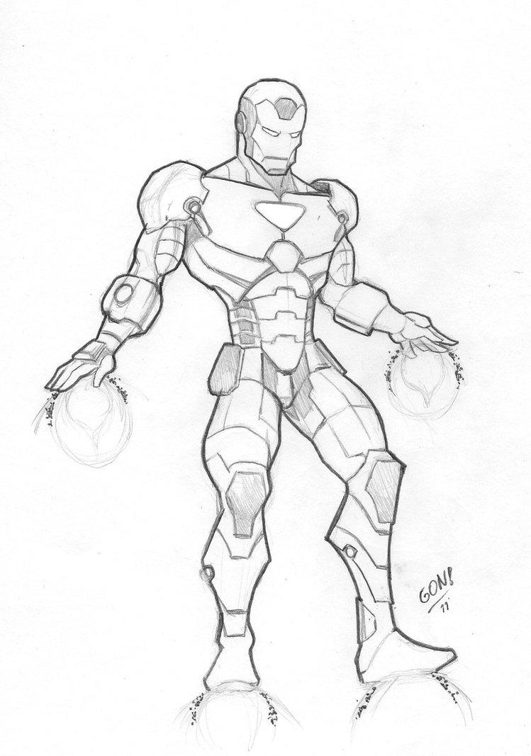 749x1067 Iron Man Boceto By Pollomaxx