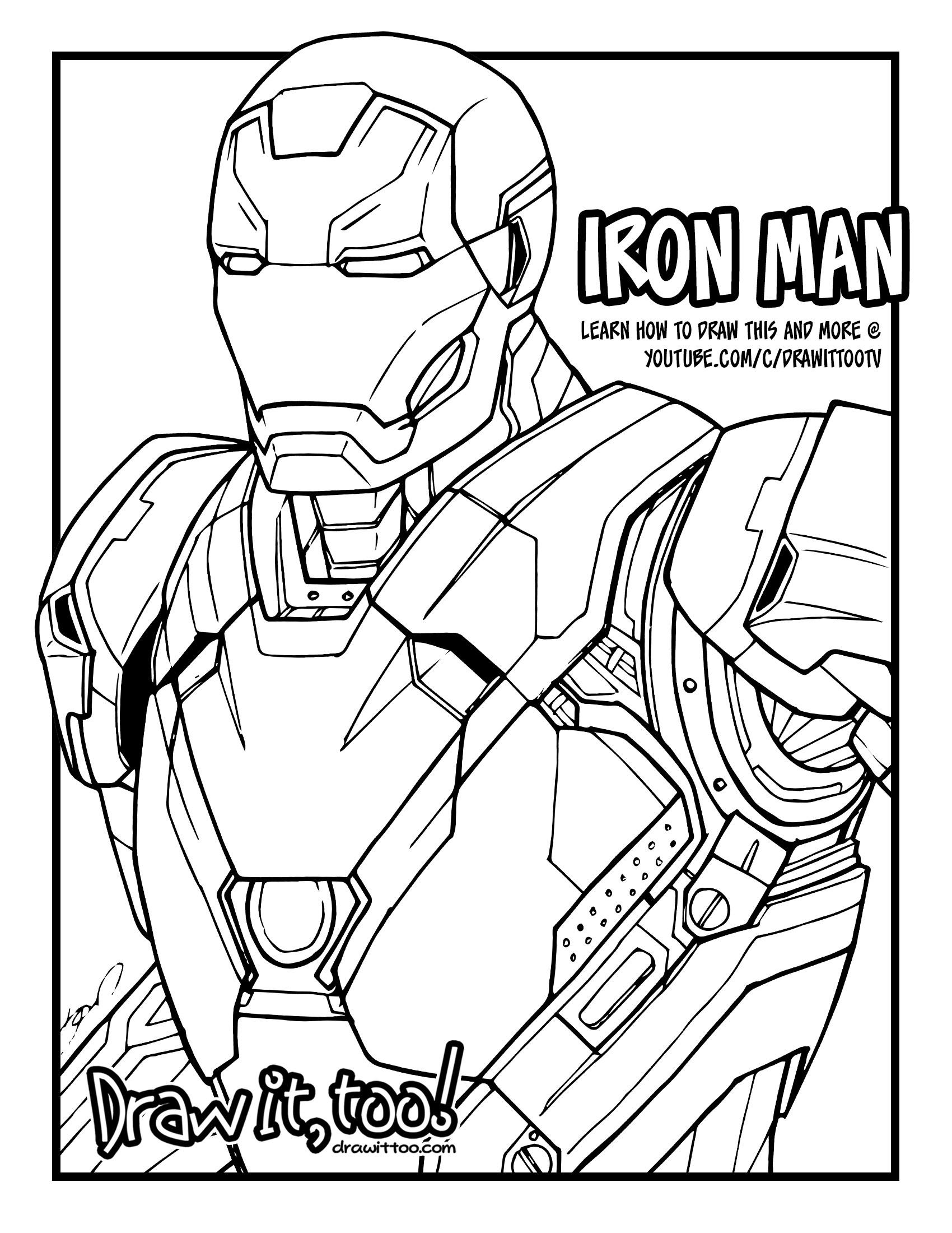 1700x2200 Iron Man Mark 46 (Captain America Civil War) Tutorial