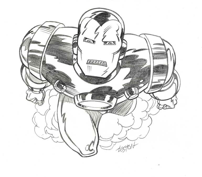 770x675 Iron Man Sketch By Lostonwallace
