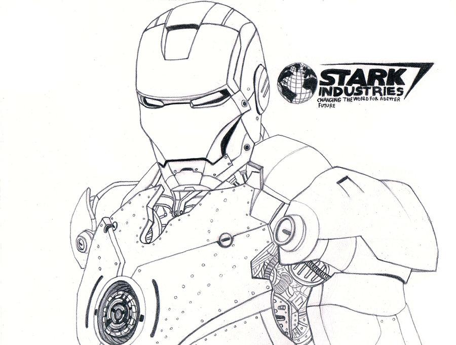 900x681 Iron Man Sketch Pencil By Vinzarts