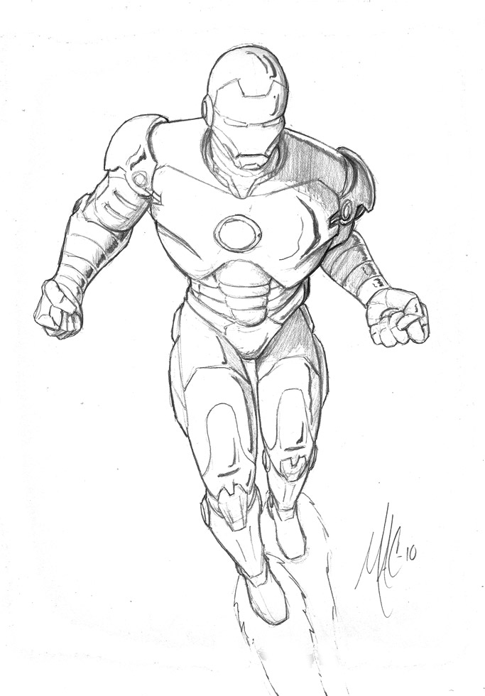 683x980 Ironman Sketch By Thepenciler