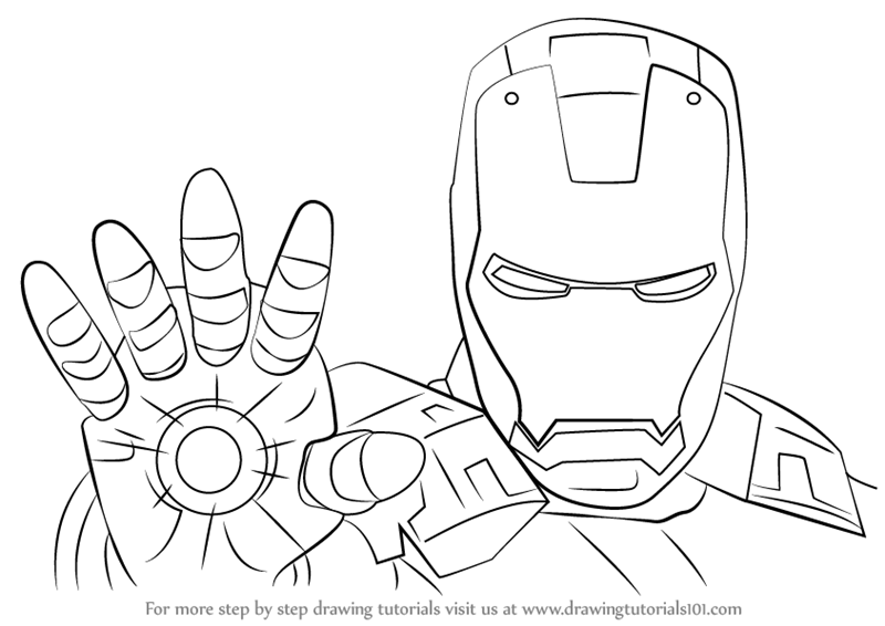 800x566 Learn How To Draw Iron Man Face (Iron Man) Step By Step Drawing