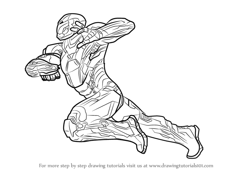 800x565 Learn How To Draw Iron Man From Captain America Civil War (Captain