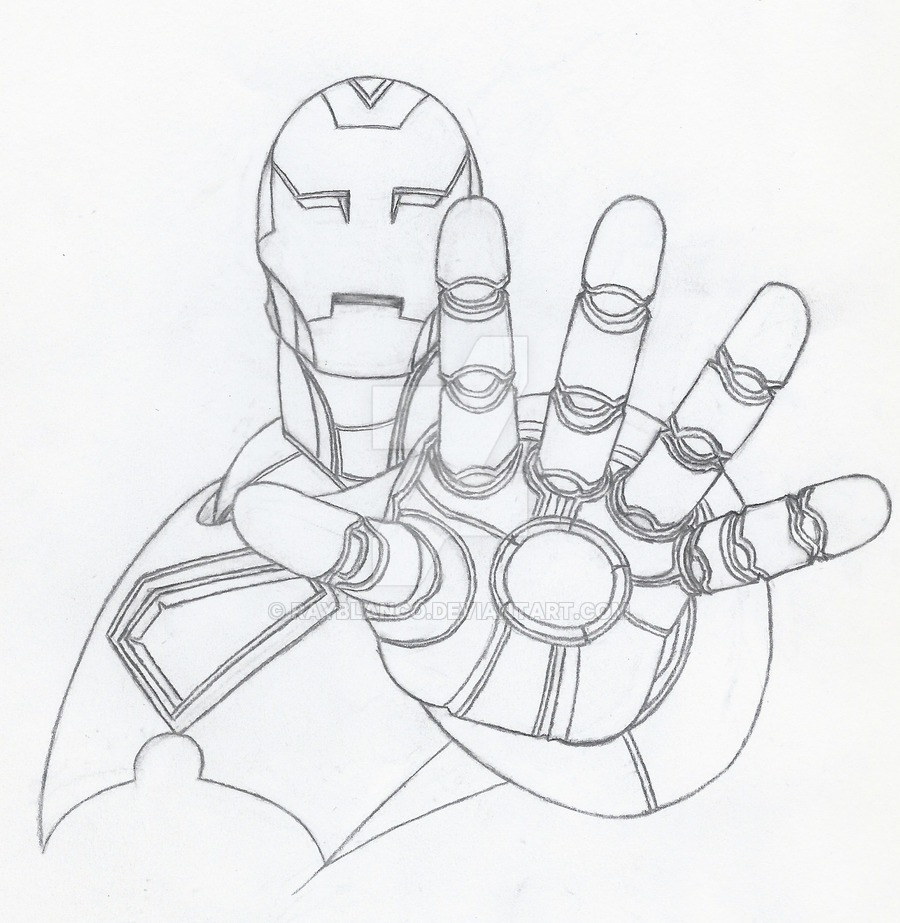 900x923 Inspired Ironman Drawing By Rayblanco