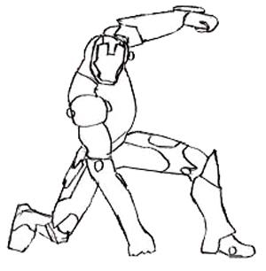 300x306 How To Draw Iron Man