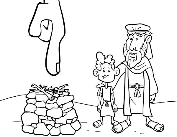 abraham and isaac sacrifice coloring pages | Isaac Drawing at GetDrawings.com | Free for personal use ...