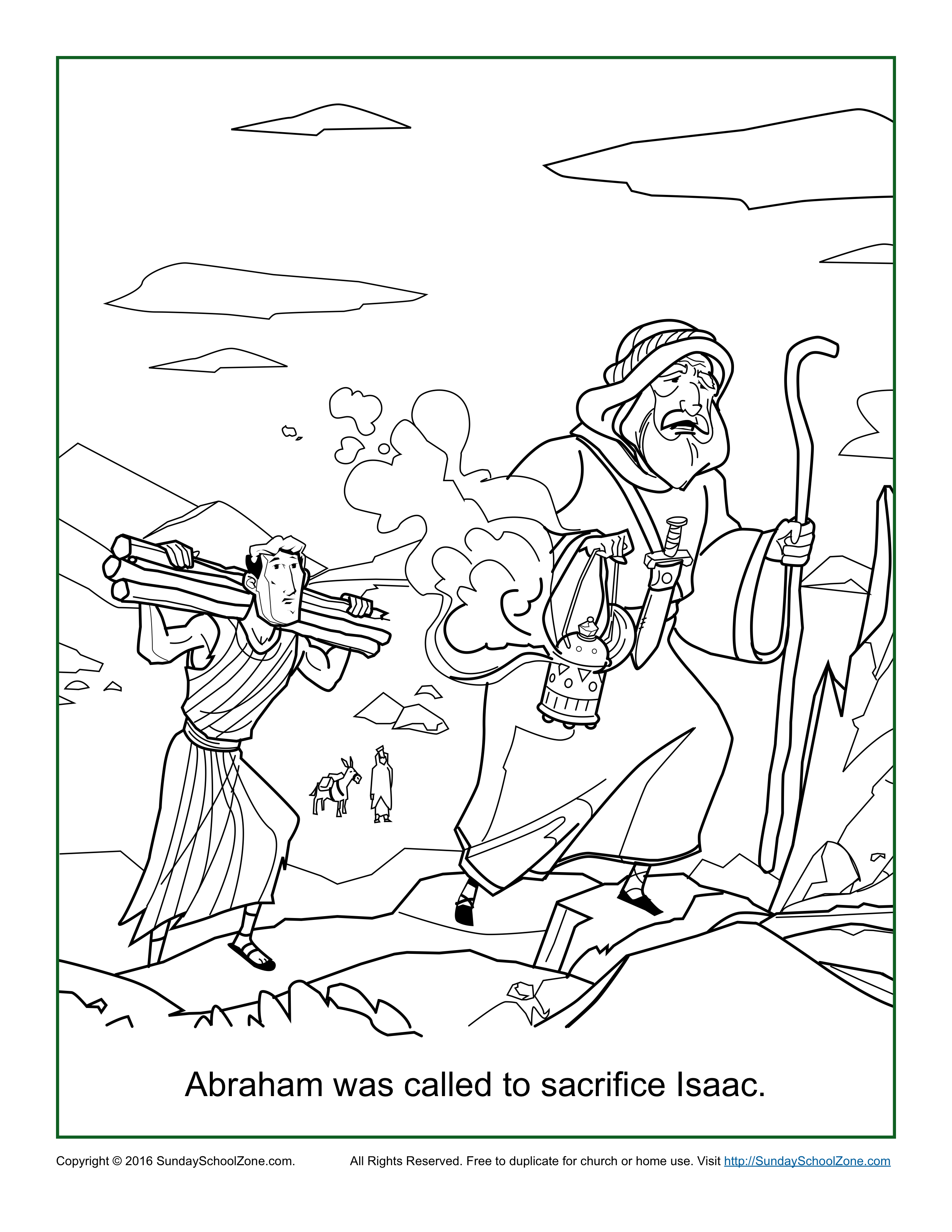 2550x3300 Printable Abraham And Isaac Coloring Page 27 With Additional Line