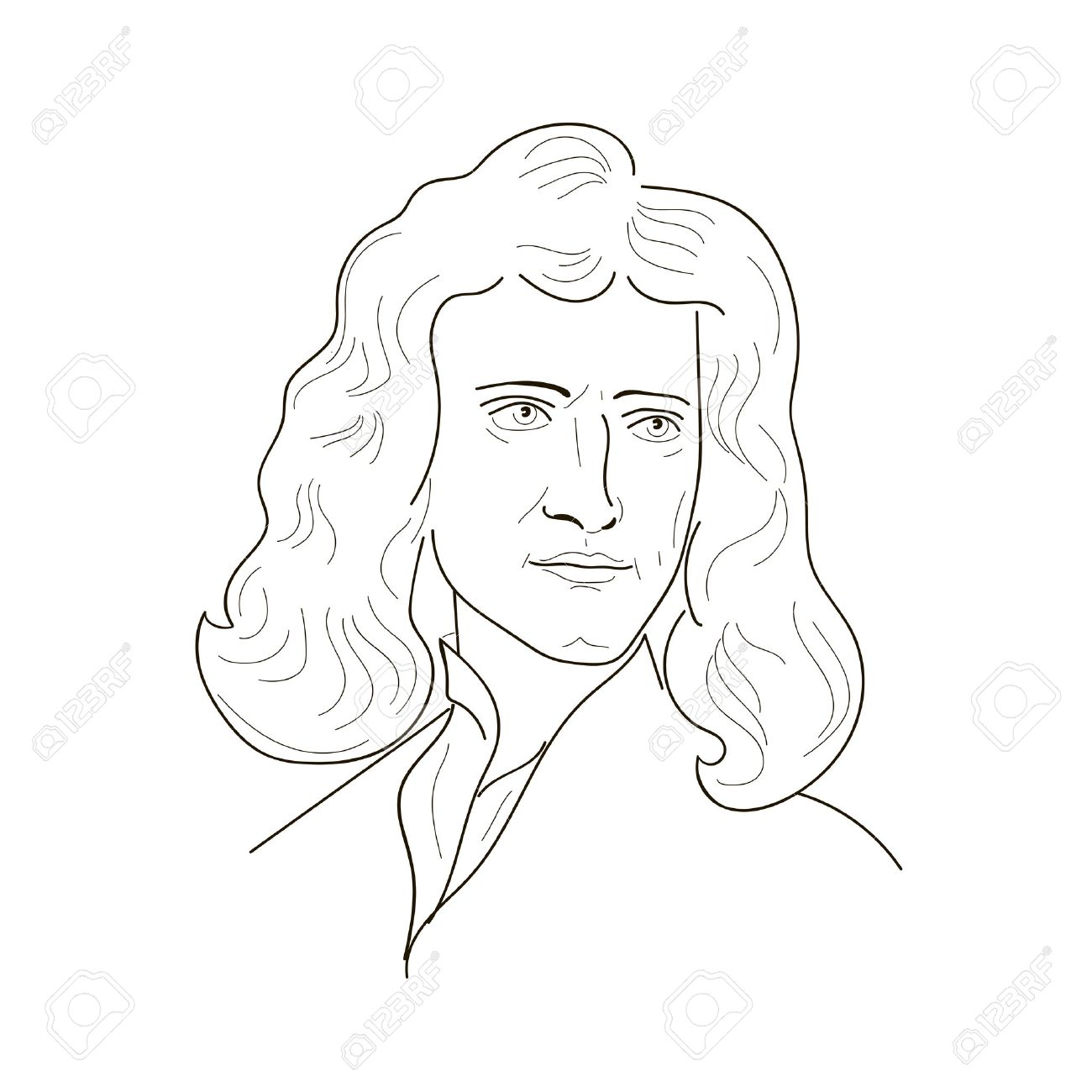 1300x1300 Isaac Newton, An English Physicist And Mathematician.sketch