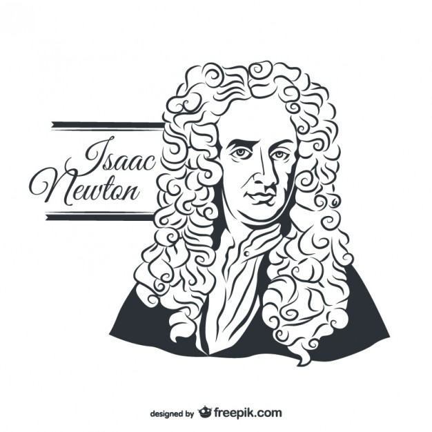 626x626 Isaac Newton Portrait Vector Free Download