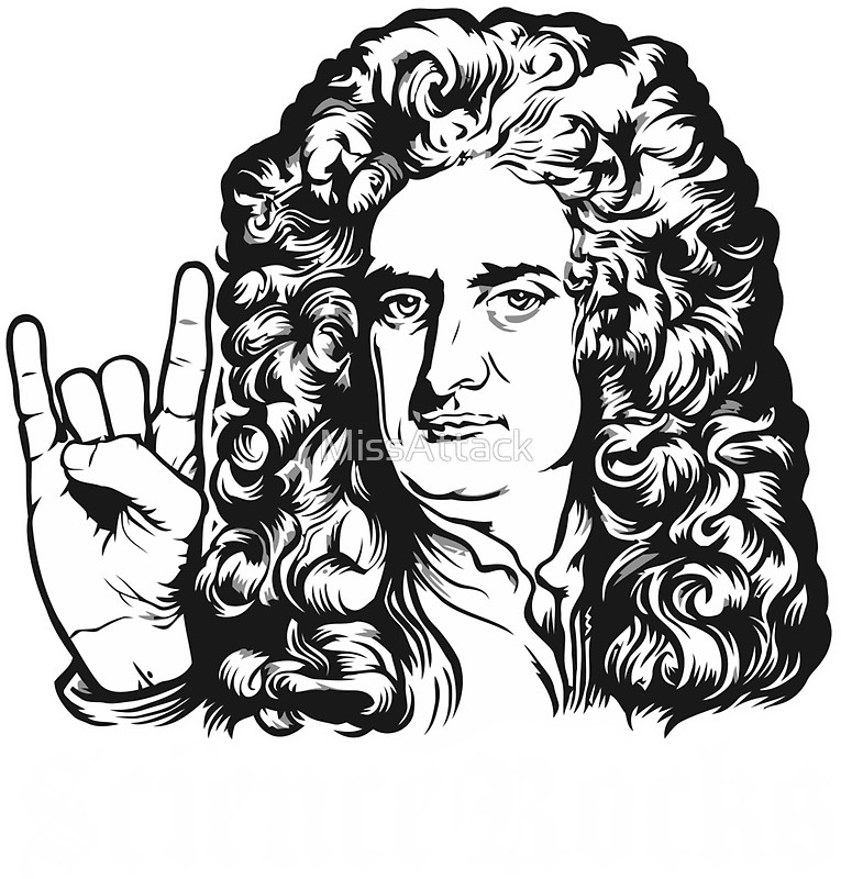 765x800 Science Rocks Isaac Newton Stickers By Missattack Redbubble