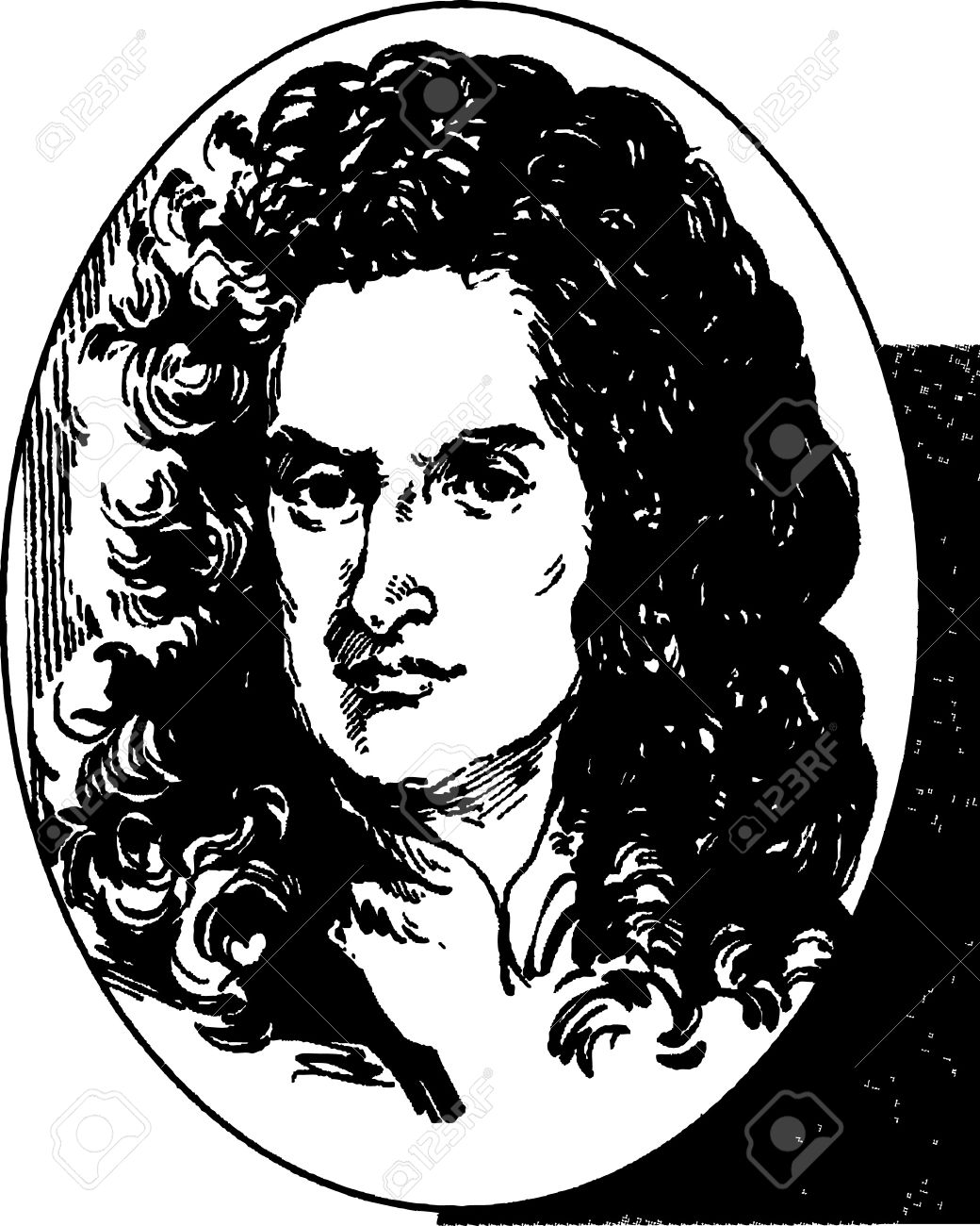 1040x1300 Sir Isaac Newton Royalty Free Cliparts, Vectors, And Stock