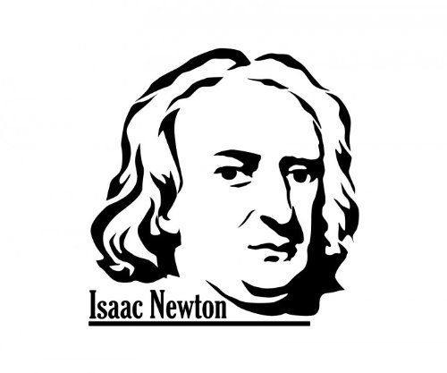 500x417 Wall Tattoo Isaac Newton, Sticker Physicist, Researchers Sticker