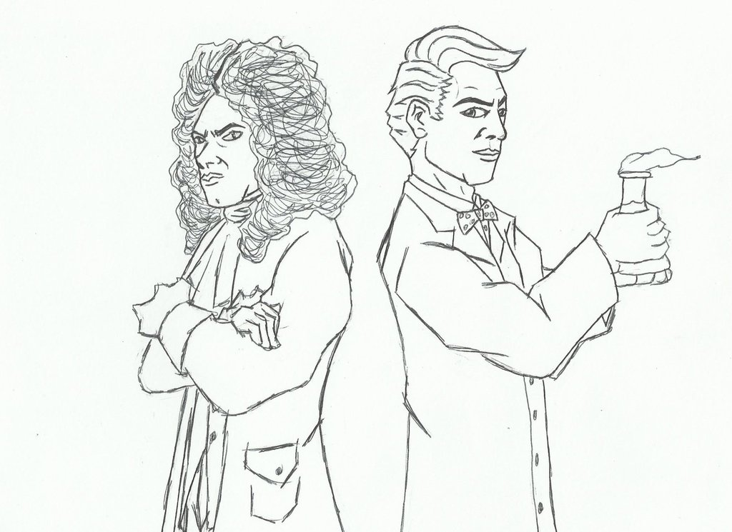 1024x745 Erb Bill Nye Vs Sir Isaac Newton By Jackelhaze