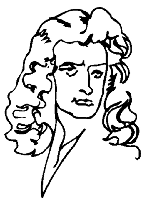 500x692 Face Cartoon Isaac Newton Coloring Page Kids Coloring Pages